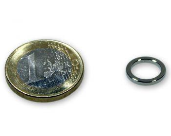 Ringmagnet Ø 12,0 x 9,0 x 1,5 mm Neodym N45 vernickelt - hält 1,5 kg