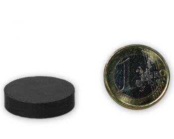 Scheibenmagnet Ø 25,0 x 6,0 mm Y30 Ferrit - hält 950 g