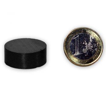 Scheibenmagnet Ø 25,0 x 10,0 mm Y30 Ferrit - hält 1,4 kg