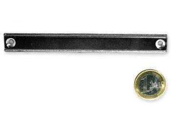 Neodym Flachleiste mit Bohrung und Senkung 120 x 13,5 x 5,0 mm hält 36 kg
