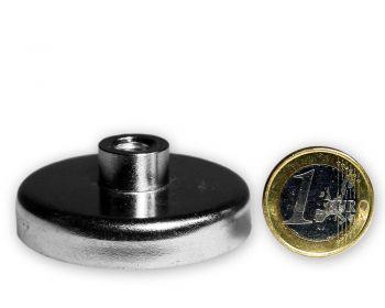 Ferrit Flachgreifer mit Buchse Ø 50,0 x 11,0 mm M8 hält 24,5 kg