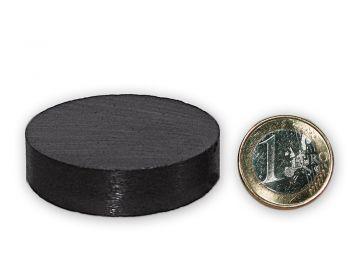 Scheibenmagnet Ø 49,0 x 15,0 mm Y30 Ferrit - hält 4,0 kg