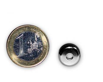 Neodym Flachgreifer mit Senkung Ø 12 x 4,5 mm hält 2,4 kg