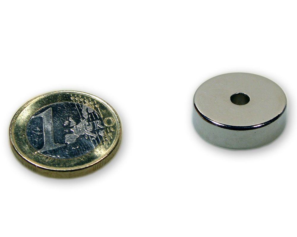 Ringmagnet Ø 20,0 x 4,0 x 6,0 mm Neodym N45 vernickelt - hält 7,0 kg