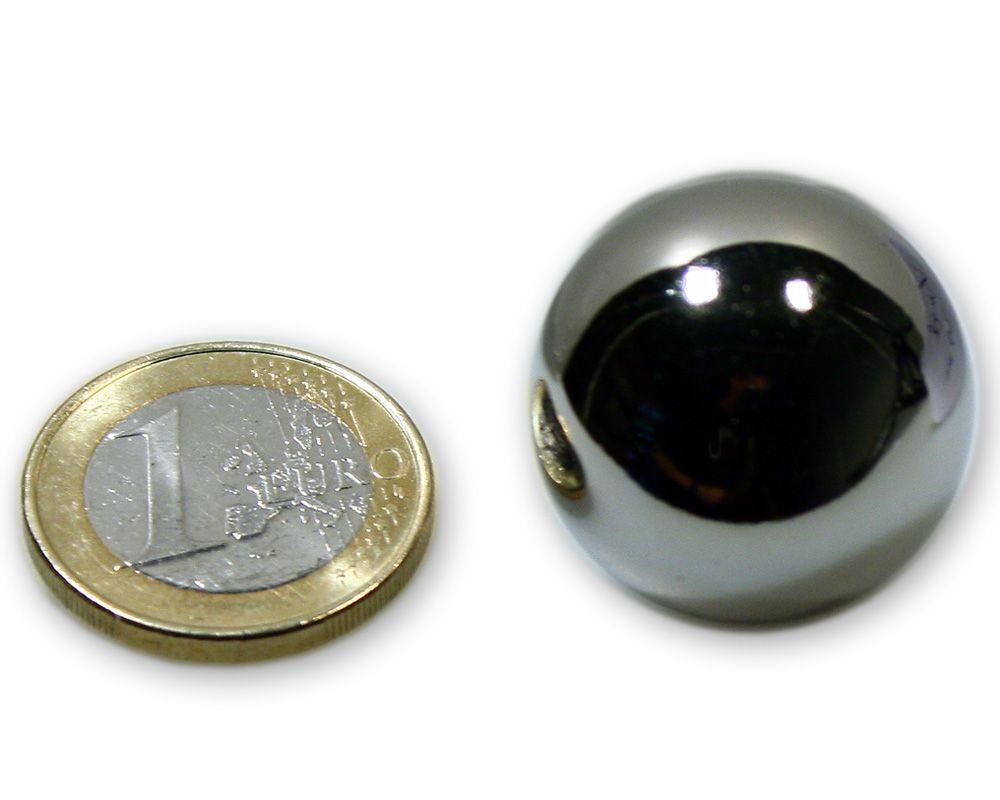Magnetkugel / Kugelmagnet Ø 25,0 mm Neodym vernickelt N40 - hält 9,5 kg