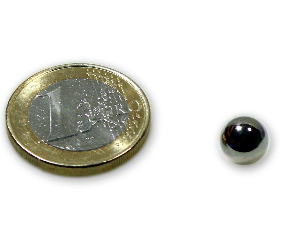 Magnetkugel / Kugelmagnet Ø 8,0 mm Neodym vernickelt N40 - hält 950 g