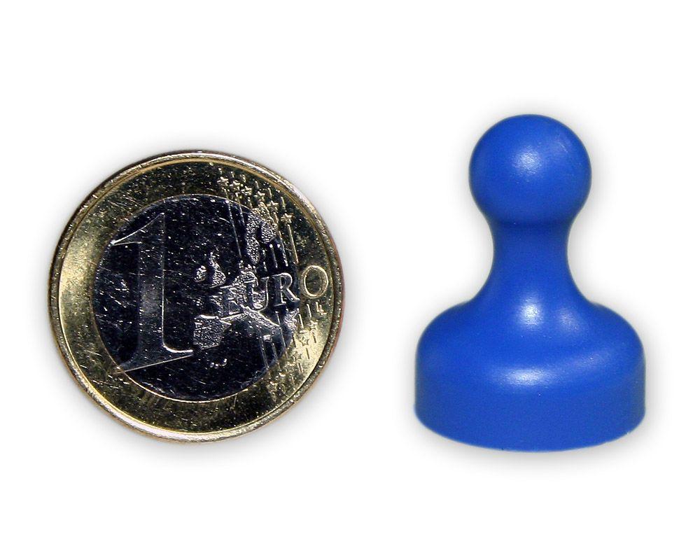 Mittlerer Kegelmagnet Ø 19 mm blau - hält 2,3 kg