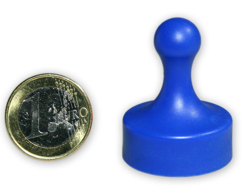 Großer Kegelmagnet Ø 29 mm blau - hält 4,8 kg
