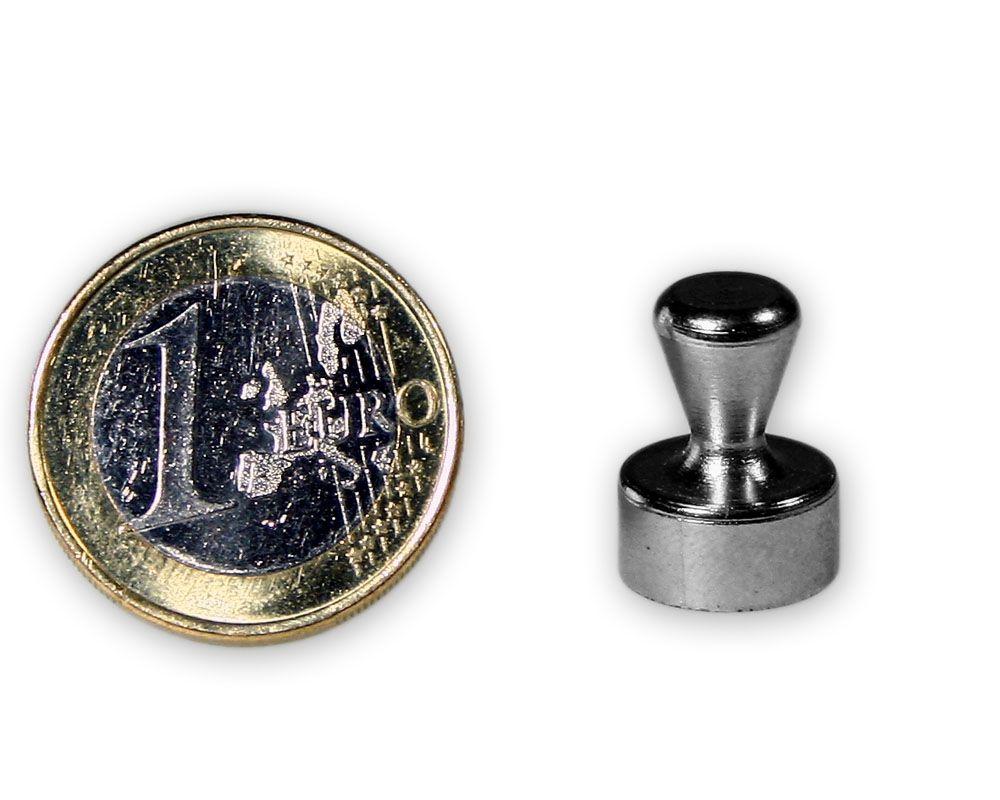 Kleiner Kegelmagnet aus Stahl Ø 12,0 x 16,0 mm - hält 4,6 kg