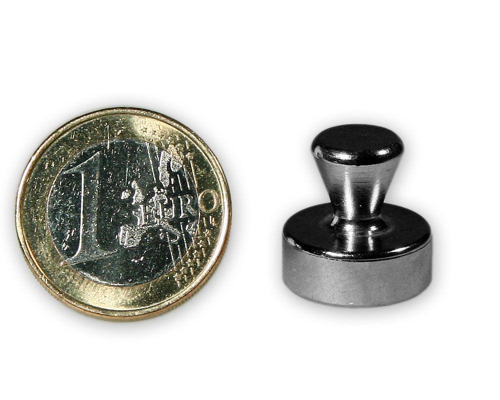 Mittlerer Kegelmagnet aus Stahl Ø 16,0 x 16,0 mm - hält 7,1 kg