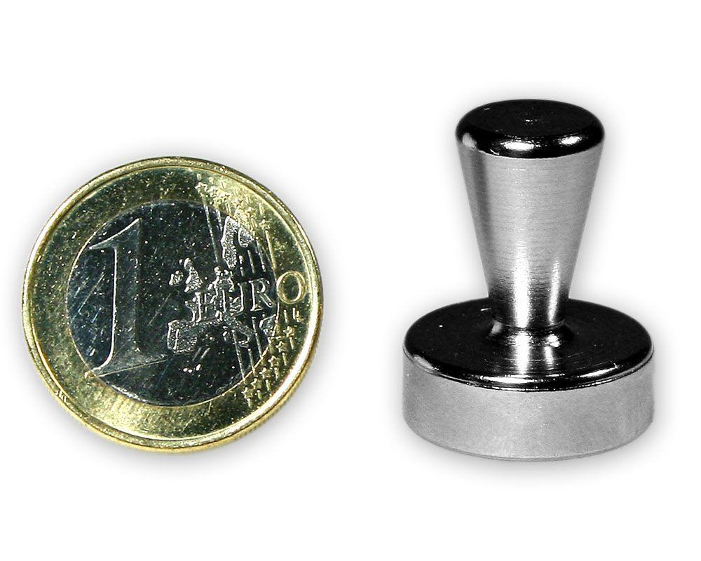 Großer Kegelmagnet aus Stahl Ø 20,0 x 25,0 mm - hält 10,5 kg