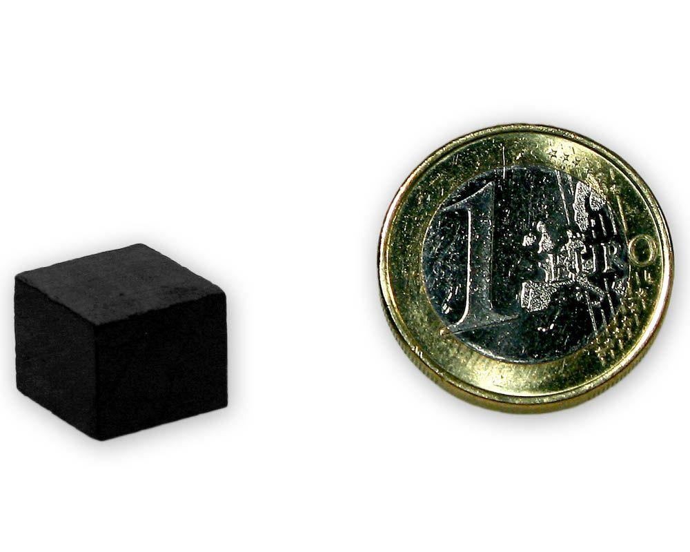 Quadermagnet 12,0 x 12,0 x 10,0 mm Y35 Ferrit - hält 600 g