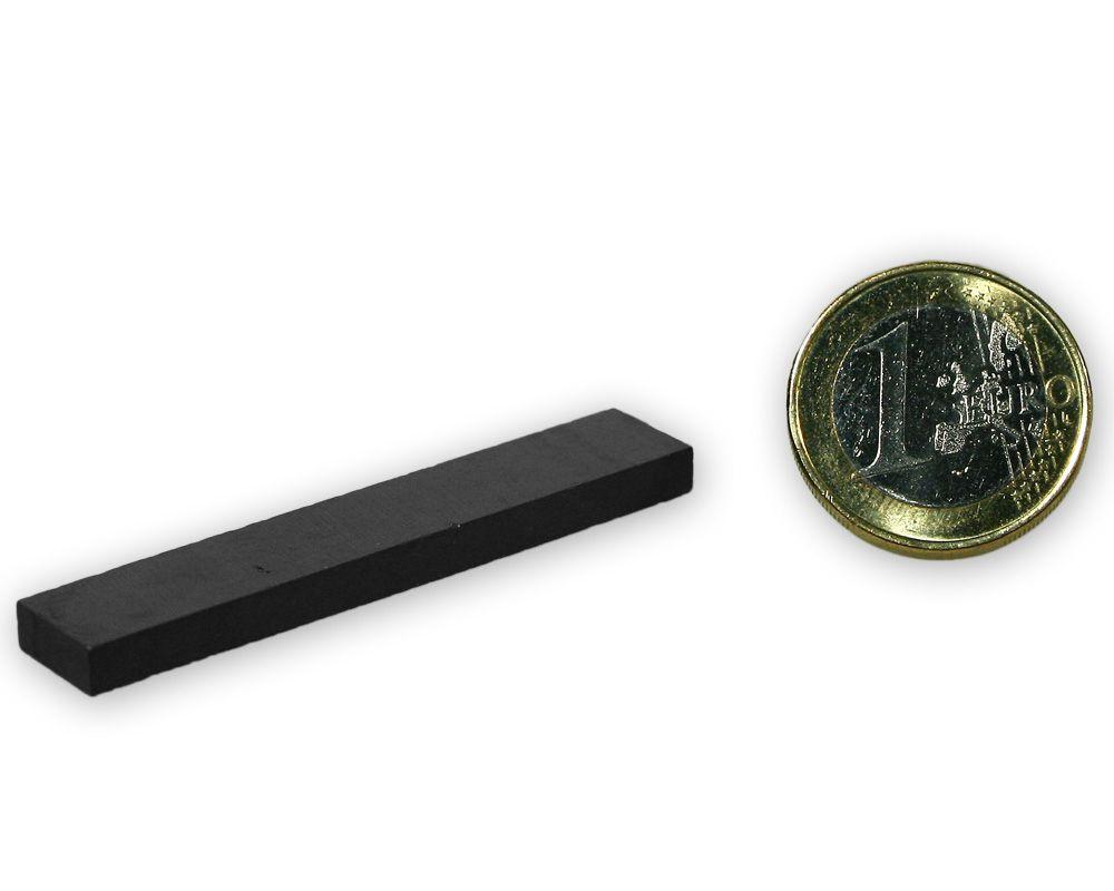 Quadermagnet 55,0 x 10,0 x 4,0 mm Y35 Ferrit - hält 500 g