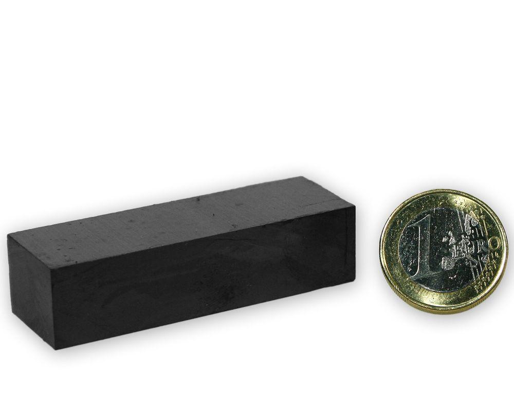 Quadermagnet 60 x 20,0 x 15,0 mm Y35 Ferrit - hält 4,0 kg