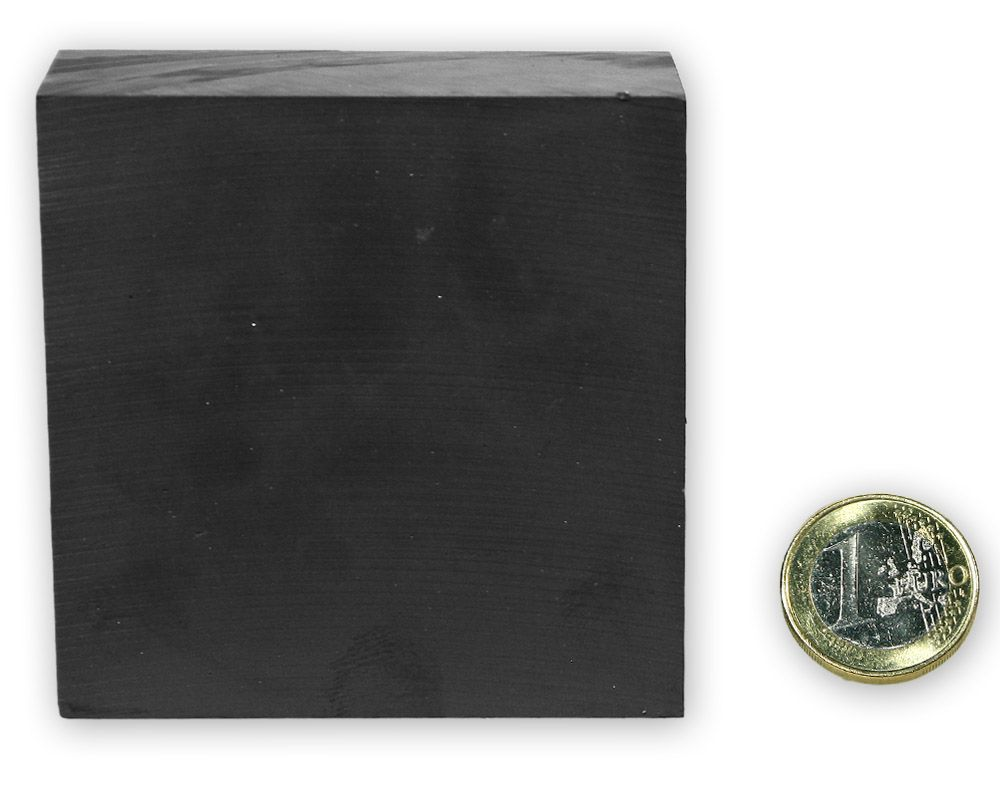 Quadermagnet 70 x 70,0 x 30,0 mm Y35 Ferrit - hält 10,0 kg