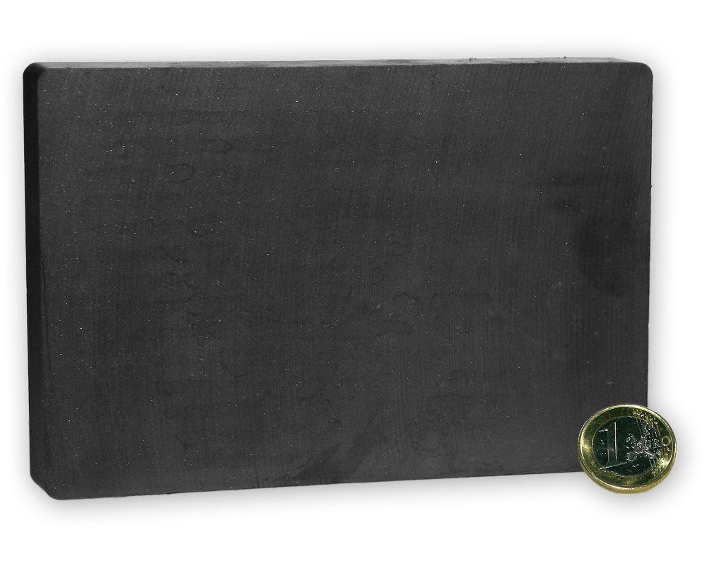 Quadermagnet 150 x 100,0 x 20,0 mm Y35 Ferrit - hält 19,0 kg