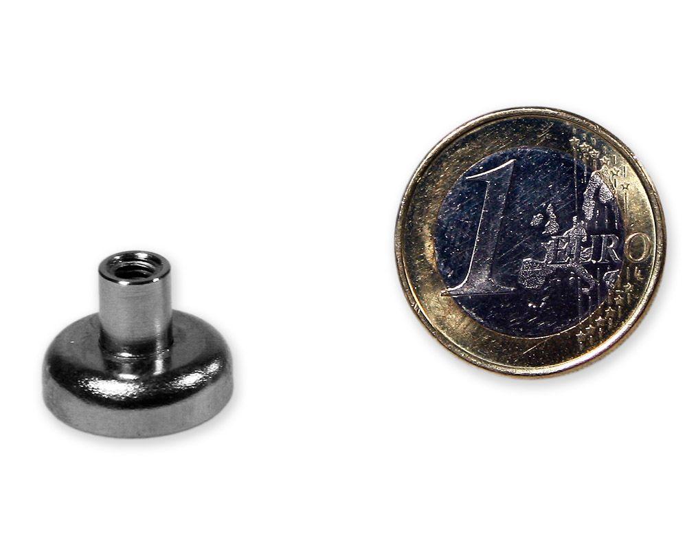 Neodym Flachgreifer mit Buchse u00d8 16,0 mm M4 hu00e4lt 6 - MagnetMax.de