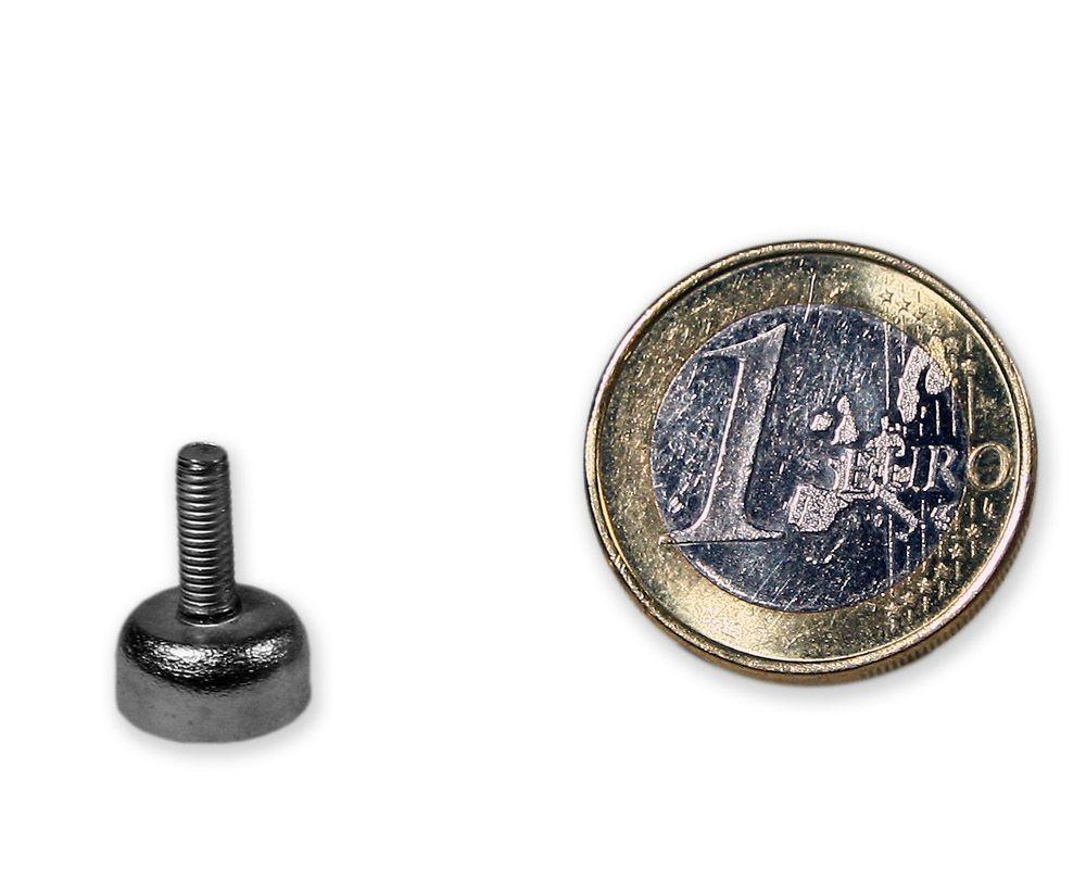 Neodym Flachgreifer mit Gewinde Ø 10,0 mm M3 hält 2,2 kg