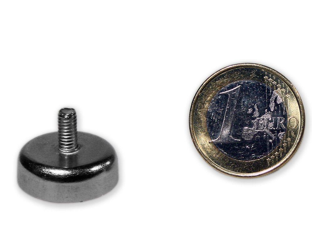 Neodym Flachgreifer mit Gewinde Ø 20,0 mm M4 hält 10,0 kg