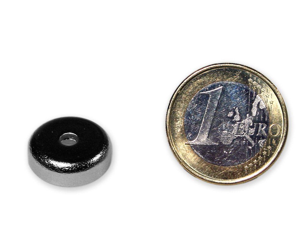 Neodym Flachgreifer mit Senkung Ø 16 x 5,0 mm hält 5 kg