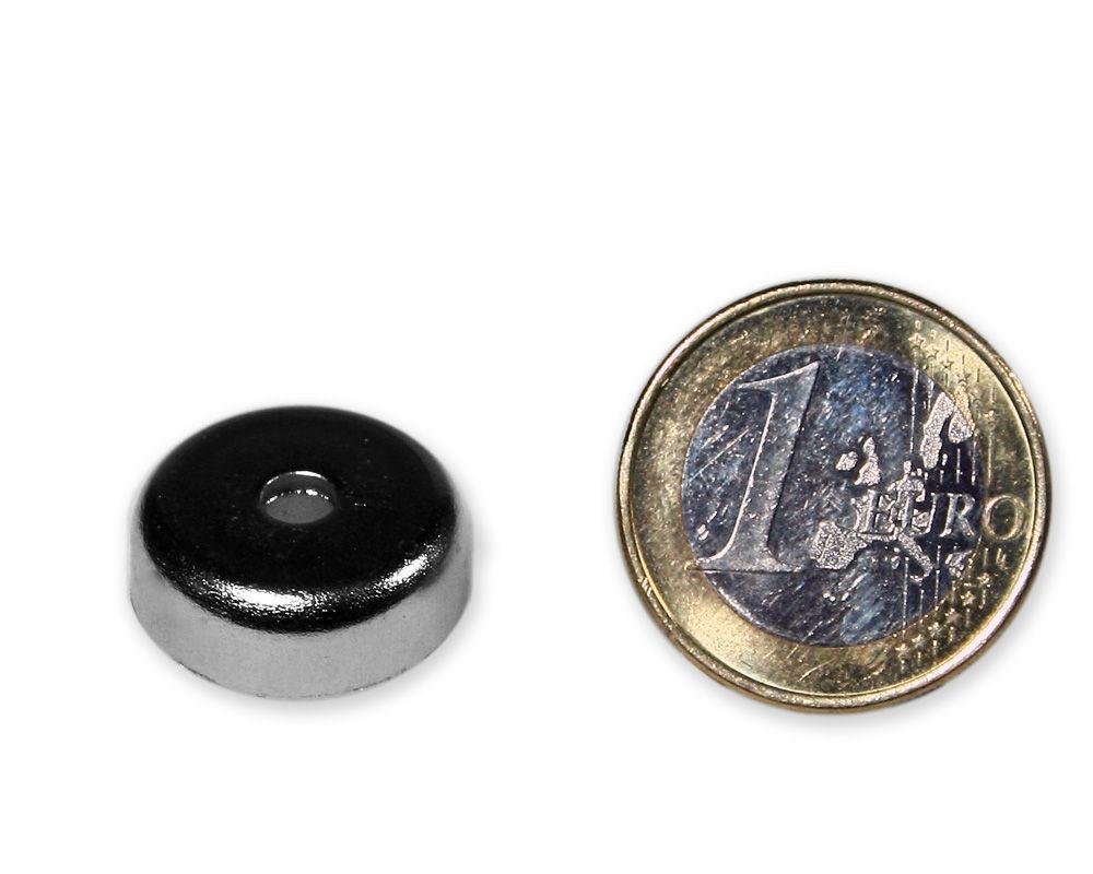 Neodym Flachgreifer mit Senkung Ø 20 x 7,0 mm hält 8,2 kg