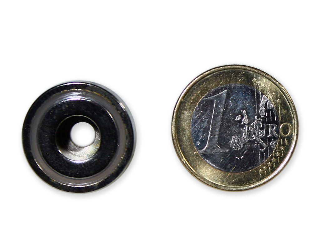 Neodym Flachgreifer mit Bohrung Ø 20,0 x 7,0 mm hält 6,2 kg
