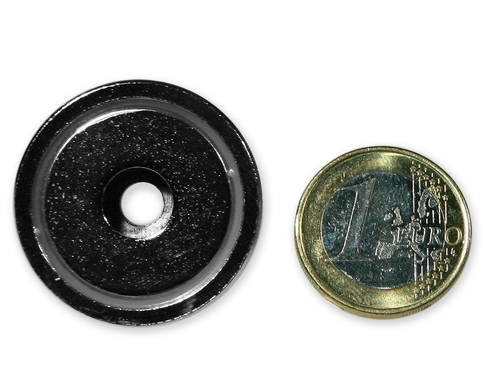 Neodym Flachgreifer mit Bohrung Ø 32,0 x 8,0 mm hält 24 kg