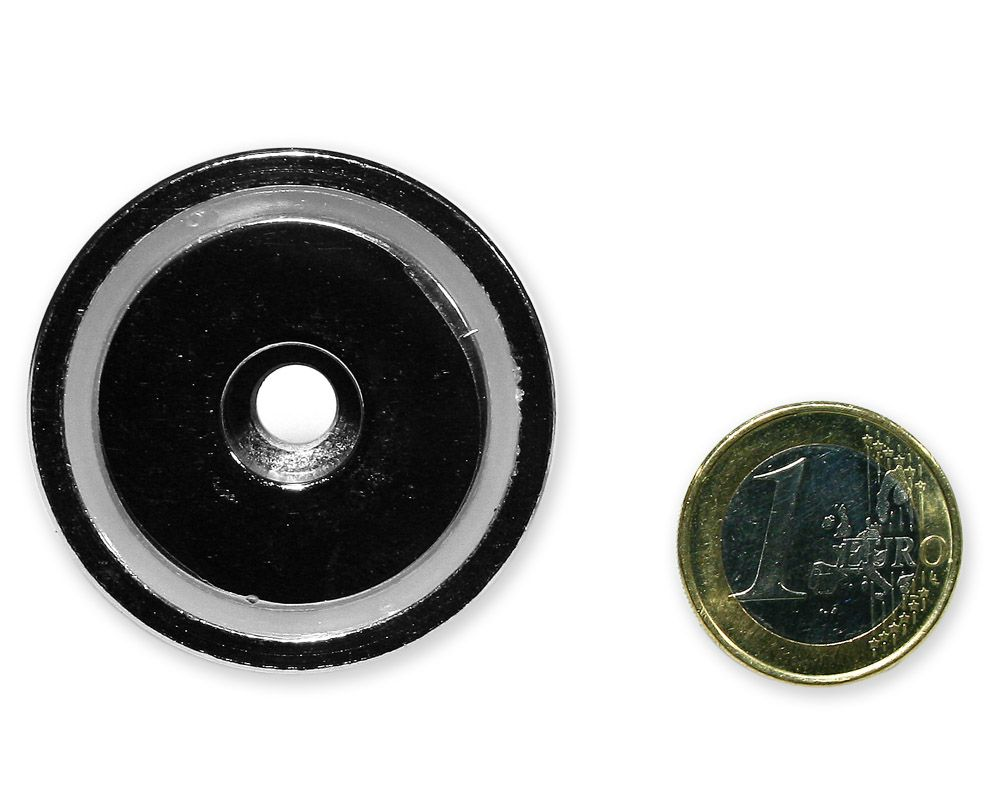 Neodym Flachgreifer mit Bohrung Ø 42,0 x 9,0 mm hält 33 kg