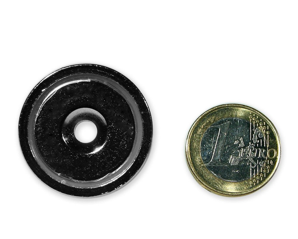 Neodym Flachgreifer mit Senkung Ø 32 x 8,0 mm hält 30,0 kg