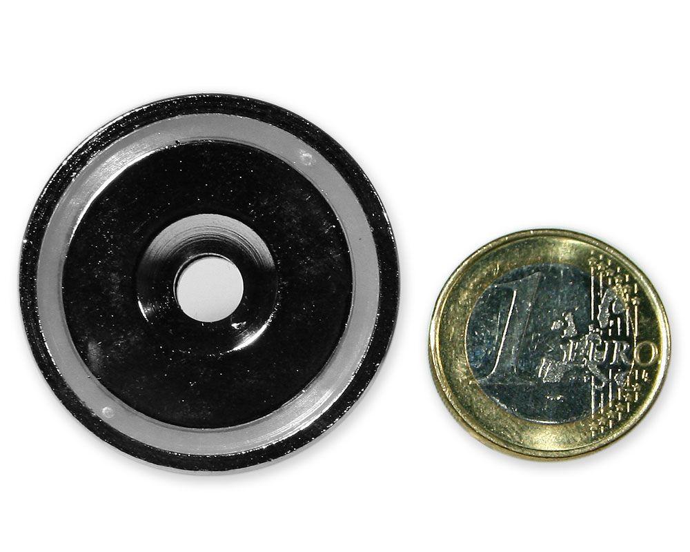 Neodym Flachgreifer mit Senkung Ø 36 x 8,0 mm hält 41,0 kg