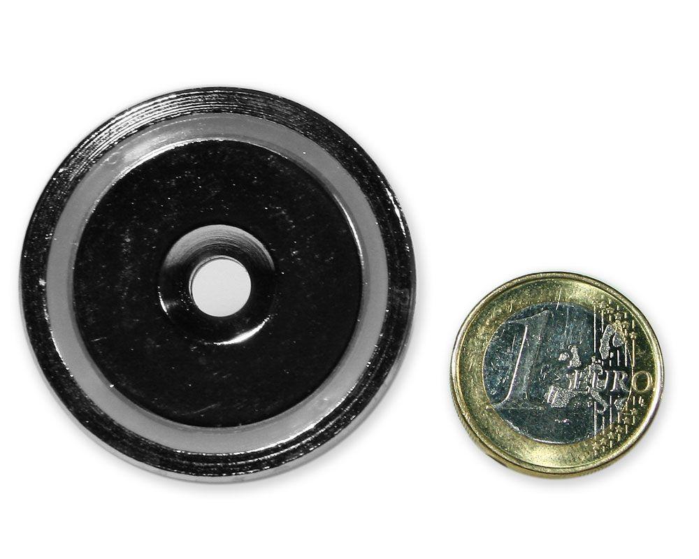 Neodym Flachgreifer mit Senkung Ø 42 x 9,0 mm hält 55,0 kg