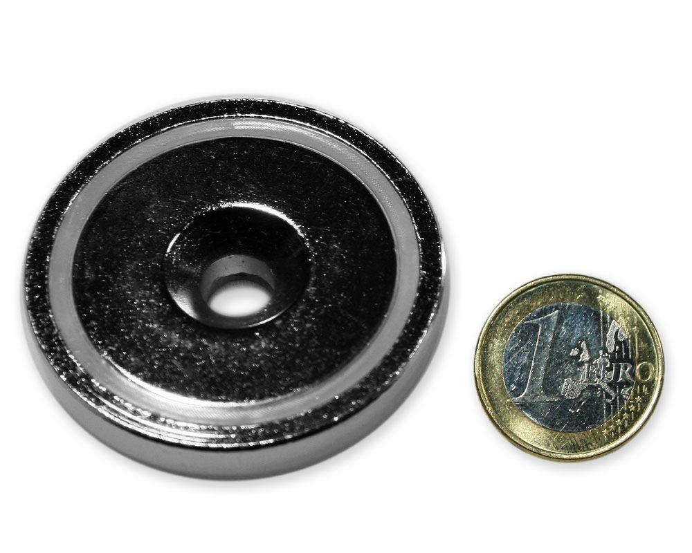 Neodym Flachgreifer mit Senkung Ø 48 x 11,5 mm hält 88,0 kg