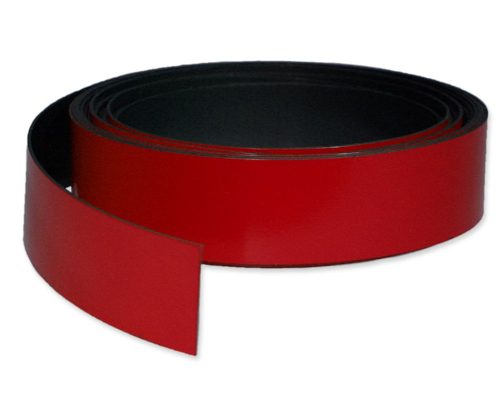 Kennzeichnungsband magnetisch, 30 mm Breite, Meterware, Rot