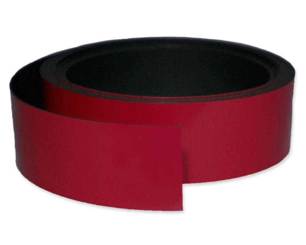 Kennzeichnungsband magnetisch, 40 mm Breite, Meterware, Rot