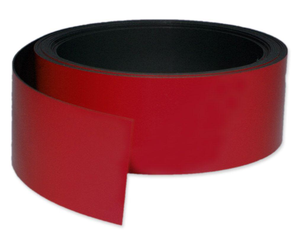Kennzeichnungsband magnetisch, 50 mm Breite, Meterware, Rot
