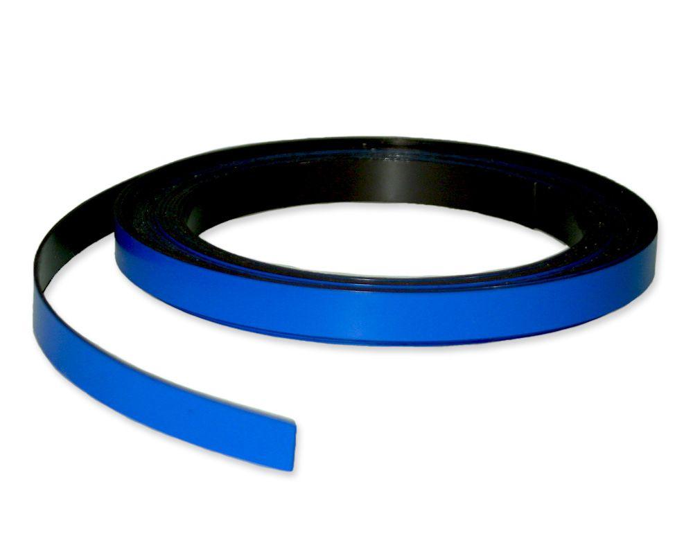 Kennzeichnungsband magnetisch, 10 mm Breite, Meterware, Blau