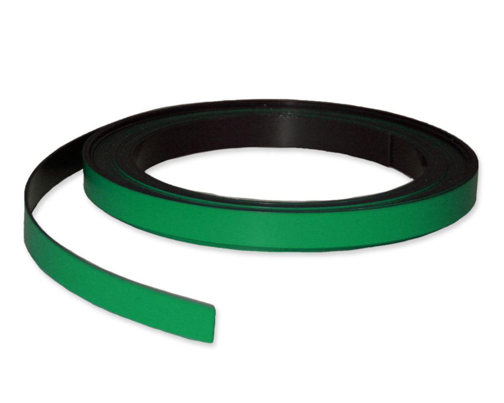 Kennzeichnungsband magnetisch, 10 mm Breite, Meterware, Grün