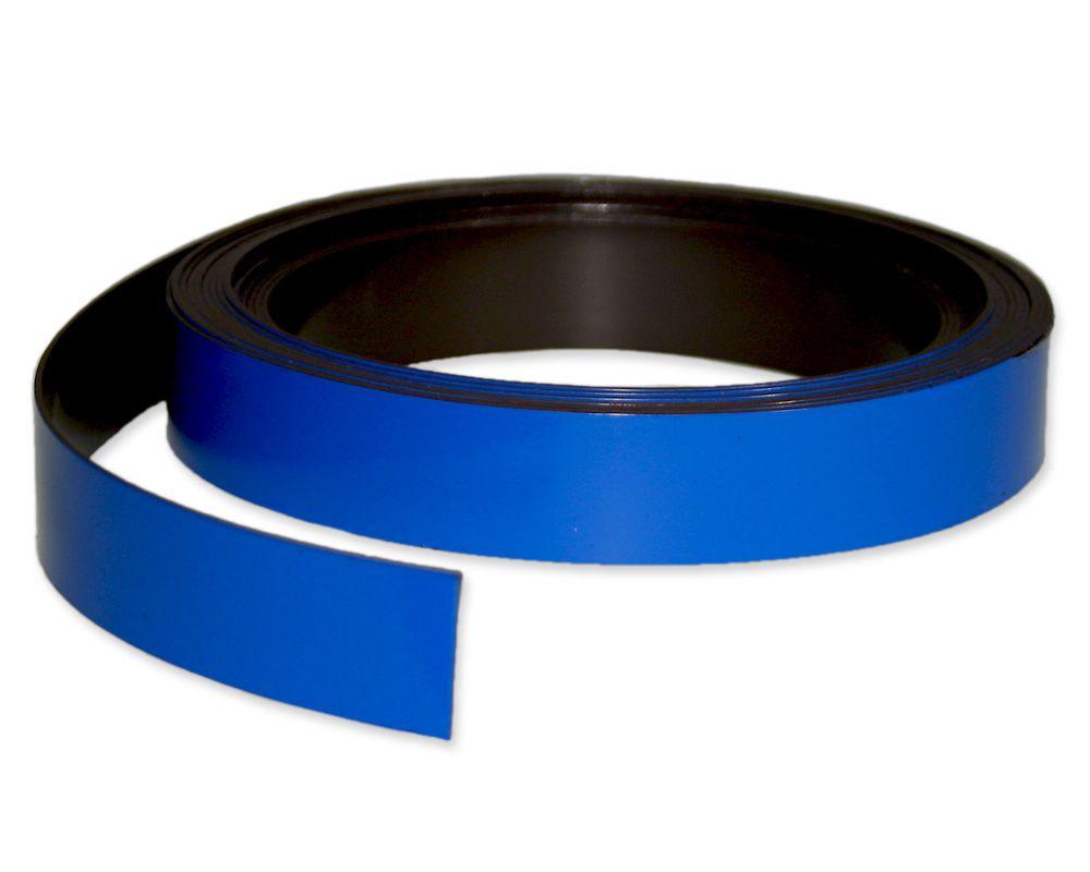 Kennzeichnungsband magnetisch, 20 mm Breite, Meterware, Blau