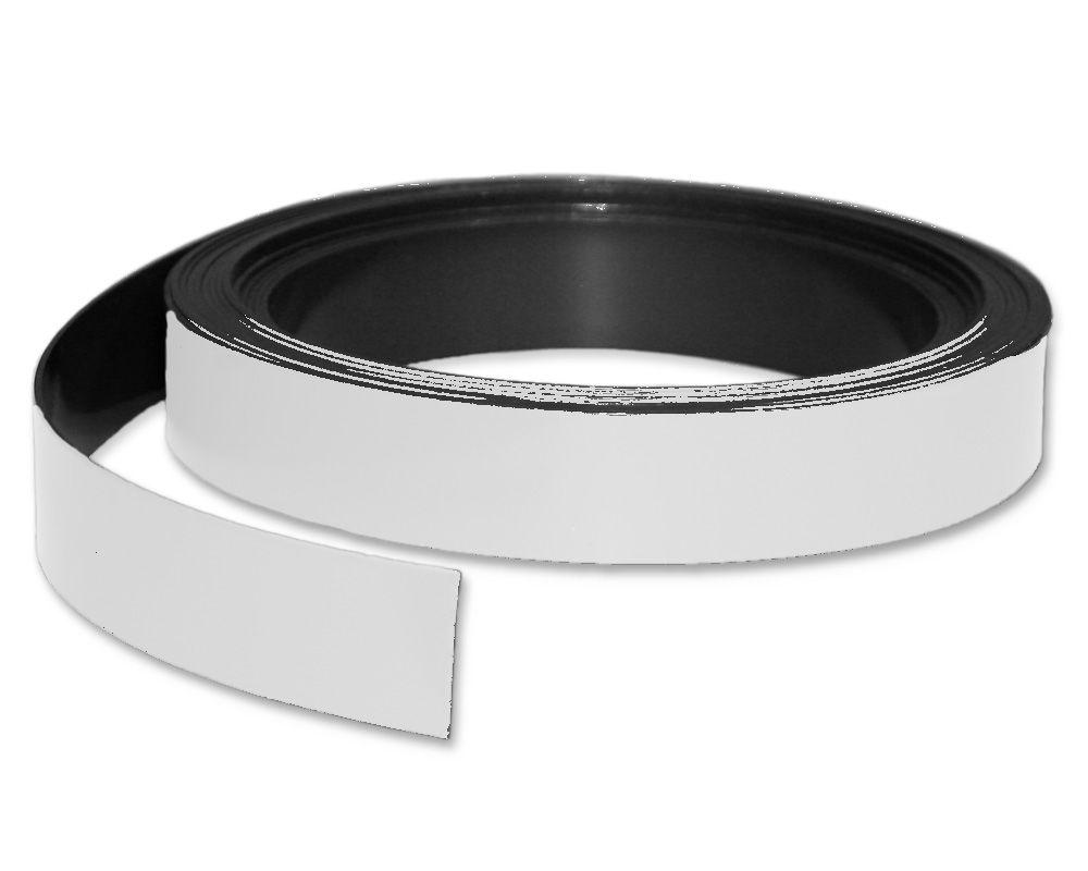 Kennzeichnungsband magnetisch, 20 mm Breite, Meterware, Weiss