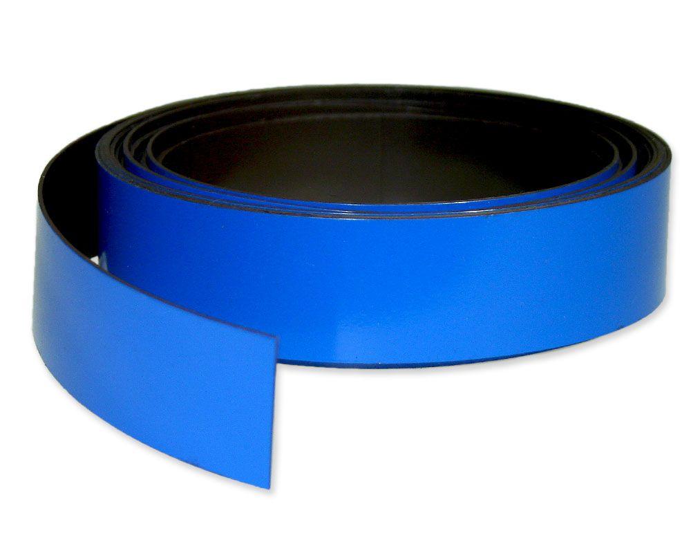 Kennzeichnungsband magnetisch, 30 mm Breite, Meterware, Blau