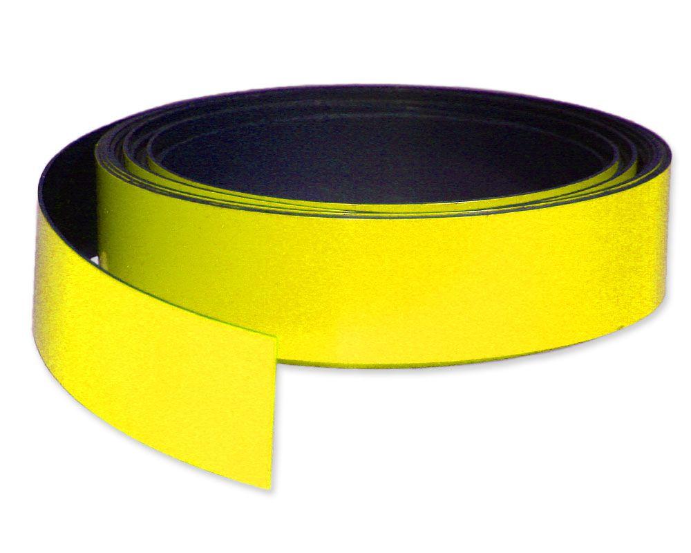 Kennzeichnungsband magnetisch, 30 mm Breite, Meterware, Gelb
