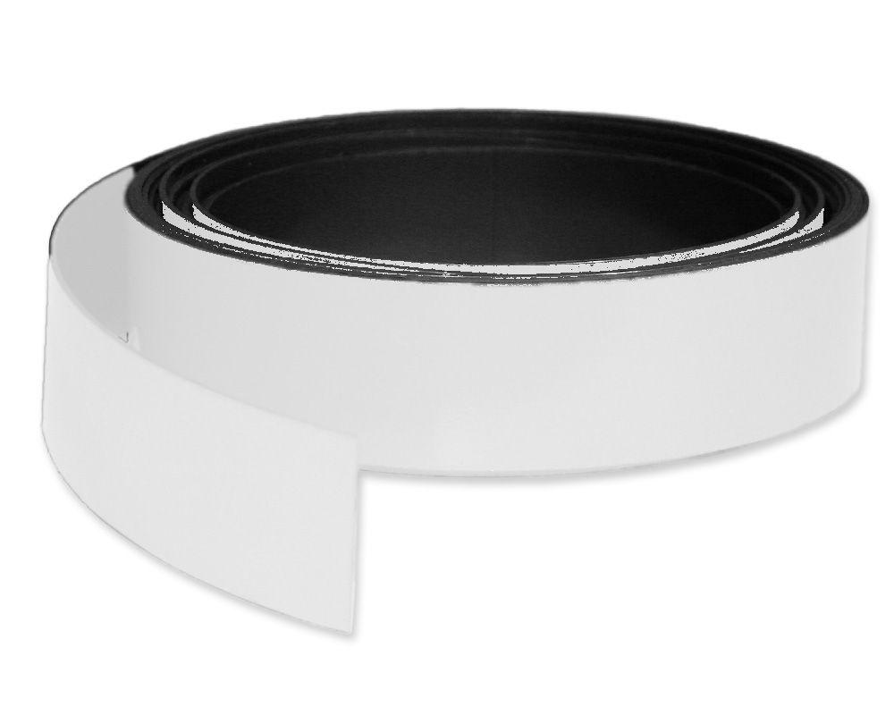 Kennzeichnungsband magnetisch, 30 mm Breite, Meterware, Weiss
