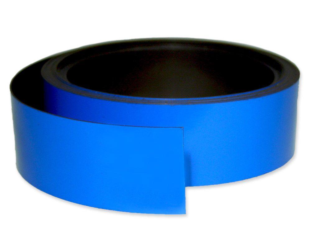 Kennzeichnungsband magnetisch, 40 mm Breite, Meterware, Blau