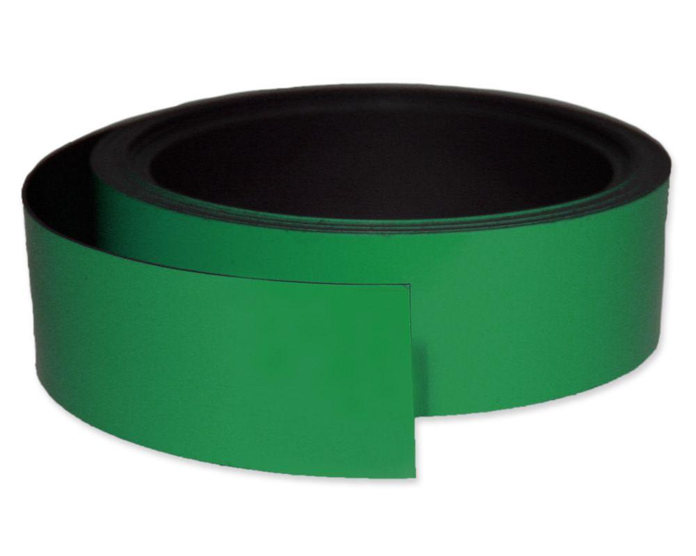 Kennzeichnungsband magnetisch, 40 mm Breite, Meterware, Grün