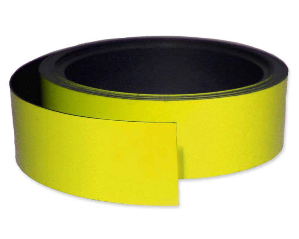 Kennzeichnungsband magnetisch, 40 mm Breite, Meterware, Gelb