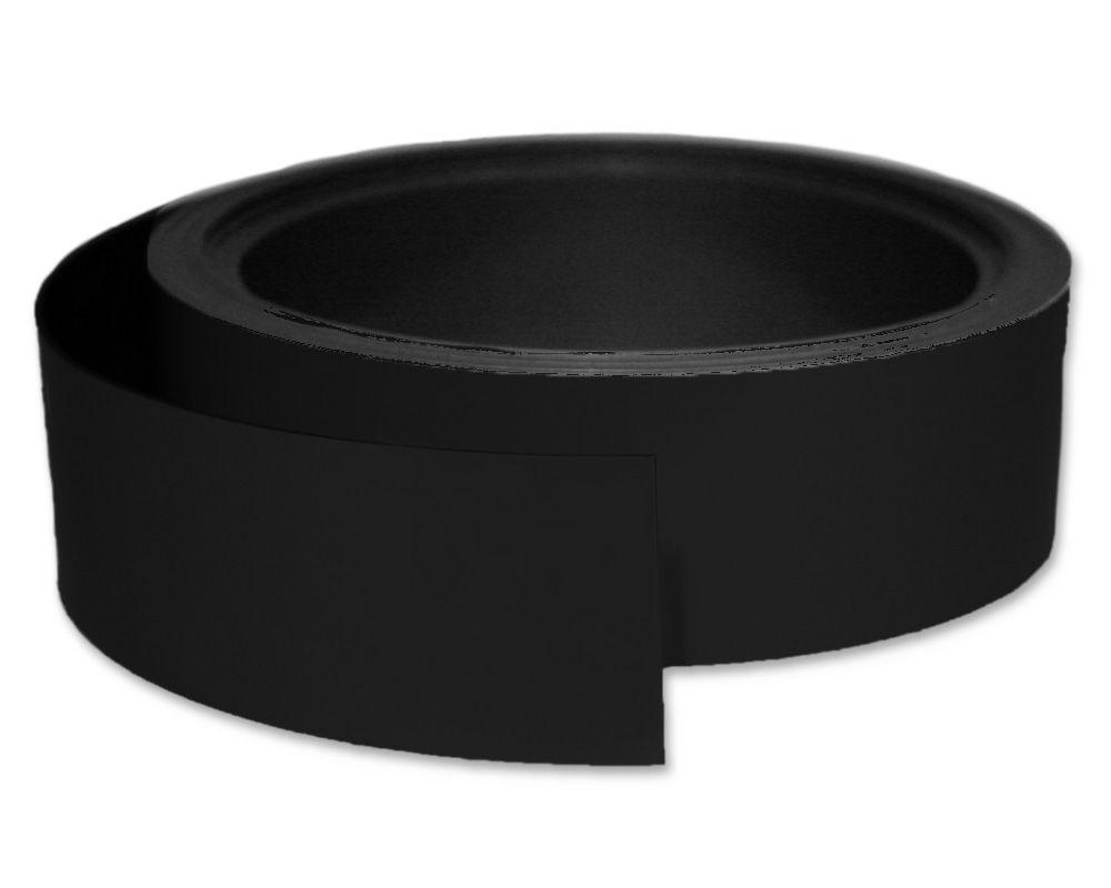 Kennzeichnungsband magnetisch, 40 mm Breite, Meterware, Schwarz
