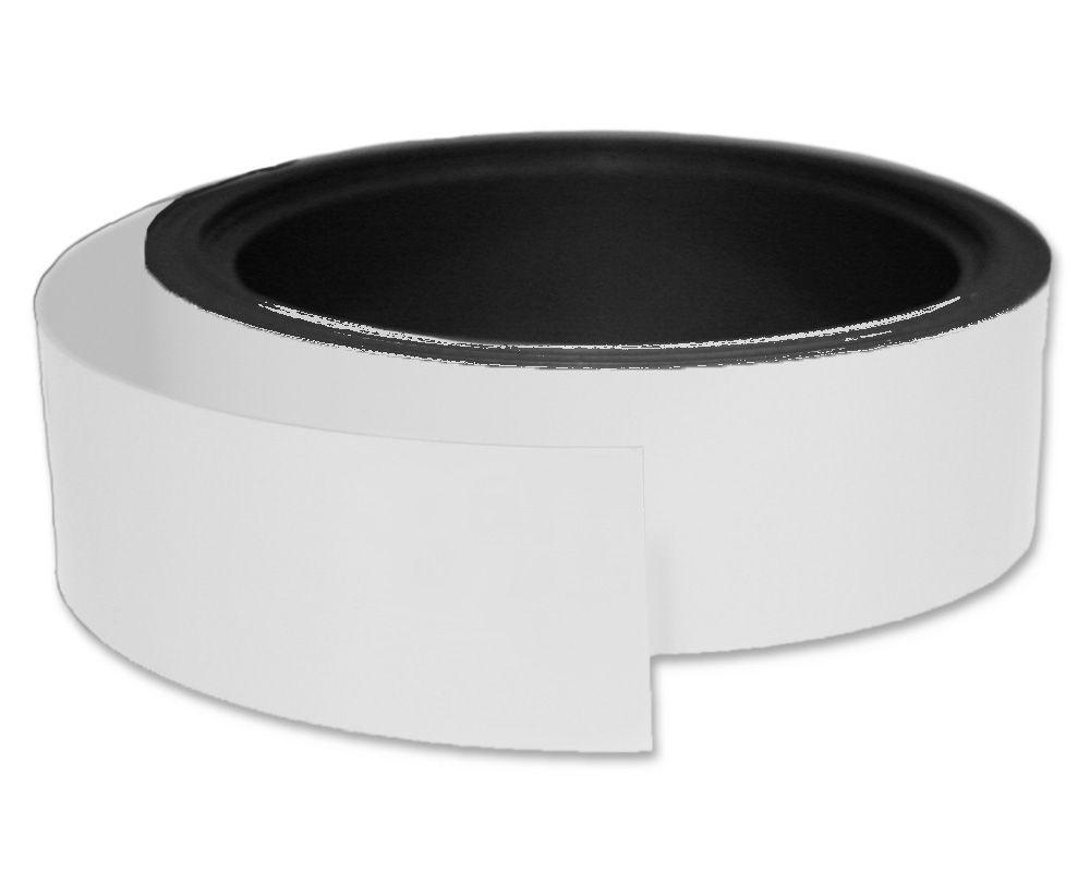Kennzeichnungsband magnetisch, 40 mm Breite, Meterware, Weiss