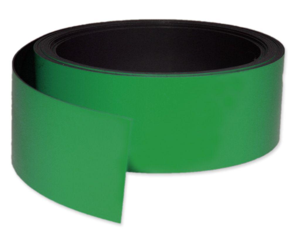 Kennzeichnungsband magnetisch, 50 mm Breite, Meterware, Grün