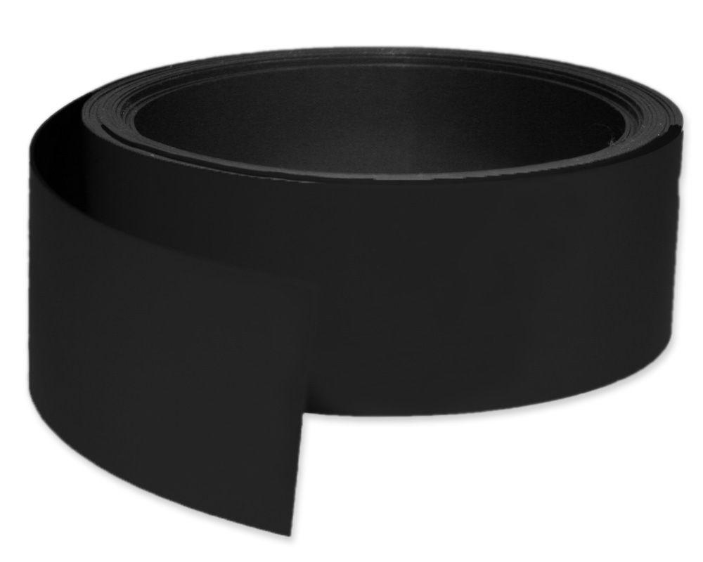 Kennzeichnungsband magnetisch, 50 mm Breite, Meterware, Schwarz