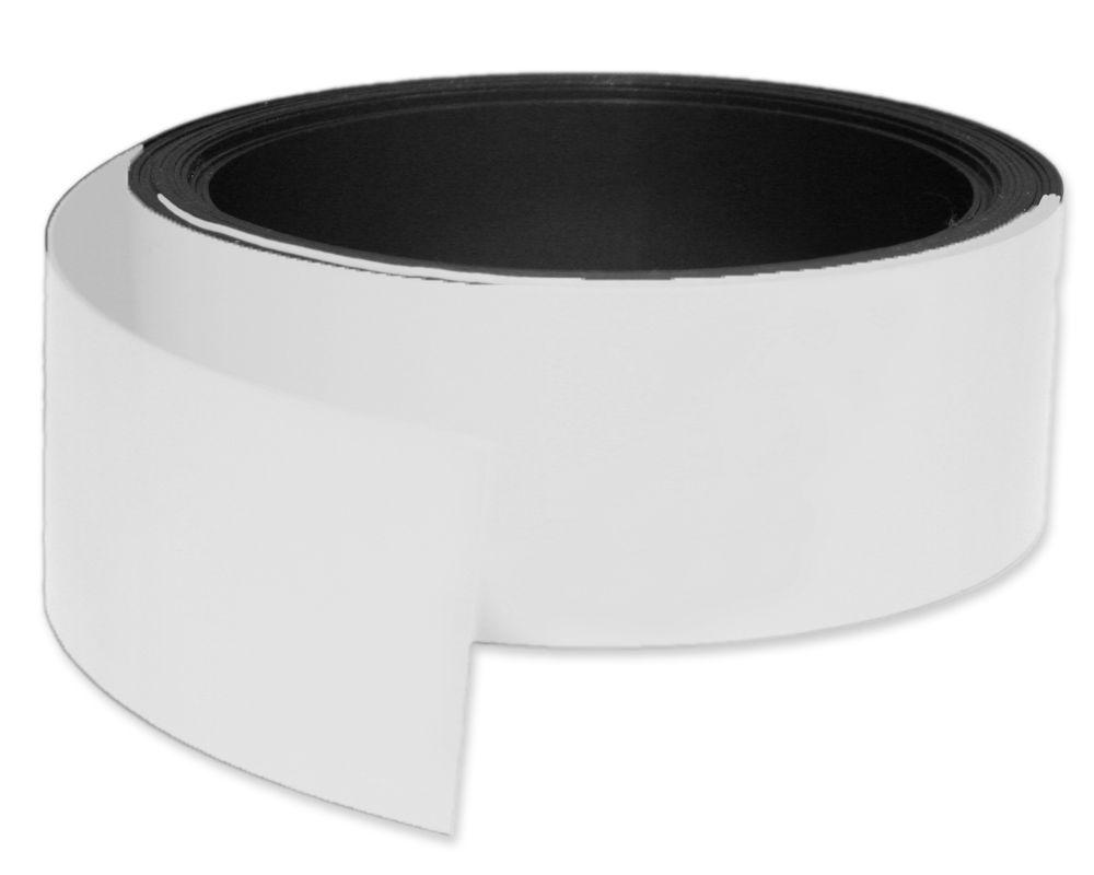 Kennzeichnungsband magnetisch, 50 mm Breite, Meterware, Weiss
